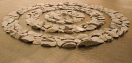 Long, Richard 'Napoli Circles' 1984 Durchmesser ca. 300cm Lava-Steine Courtesy Galerie Löhrl, Mönchengladbach