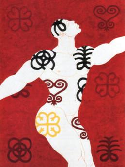 Owusu-Ankomah Trance 1995 Acryl auf Segeltuch 200 x 150 cm