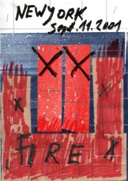 POSTKUNST LOTHAR TROTT (Schweiz), Project Fire - Feuer, 2002