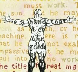 OWUSU-ANKOMAH >Toil< 2005 Acryl, Ölstift auf Leinwand 185 x 200cm Besitz des Künstlers