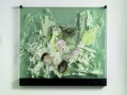CONE WEEKS, STEPHEN >The Lesson / Hand in Hand< 2005 Zeichnung auf sechs Glasscheiben 109 x 120cm Besitz des Künstlers