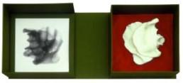 FOX, ANSELMO >MIR näher als Ich< 2003 Schatulle mit S/W Print 19 x 19cm und Seifenguss lebensgroß Besitz des Künstlers
