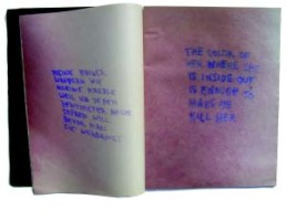 HOLZER, JENNY >Lustmord< 1993 (Wo Frauen sterben bin ich hellwach) Bilderzyklus für das SZ-Magazin vom 19.11.1993 Edition Nr. 46 29,5 x 45cm Courtesy Sammlung Kalkmann, Bodenburg