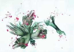 KNOKE, ROBERT >Beauty (mannered blossom)< 2005 Photocollage ca. 300 x 300cm Besitz des Künstlers