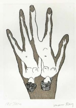 RAY, MAN >O.T.< (o.J.) Radierung 18,4 x 13,8 auf 25,2 x 22,6cm Bütten Exemplar 125/150 Sammlung Dr. Imma Rasinger, Wien