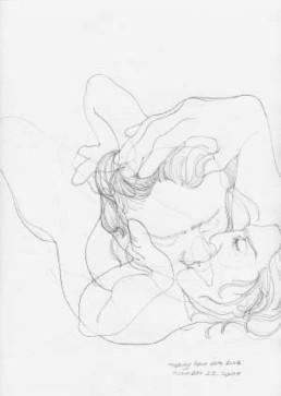 PHELPS, DANICA >making love with Debi< 2004 Zeichnung, Bleistift auf Papier 30,5 x 22,9cm Courtesy Galerie Schütte, Essen-Kettwig