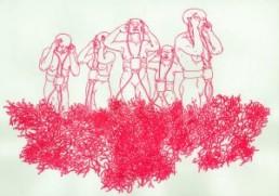 Emsbach, Bea *1965 >Internetz< 2001 Tinte auf Papier 30 x 42 cm Besitz der Künstlerin