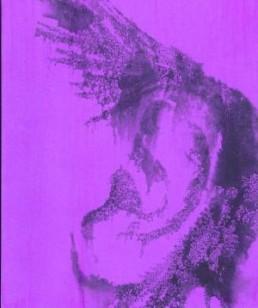 Kullenberg, Sabine *1957 >empfangen< 2005 Monotypie, gescannt, geprintet, bemalt 50 x 50 cm Besitz der Künstlerin