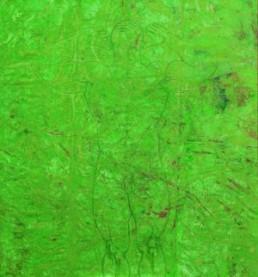 Owusu-Ankomah *1956 >Listen< 2006 Acryl auf Leinwand 200 x 185 cm Besitz des Künstlers