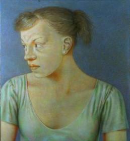 Ritter, Susanne *1945 >Janina< 2005 Eitempera / Acryl auf Leinwand 115 x 105 cm Besitz der Künstlerin