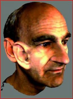 Stelarc *1946 >big ear< Detail von der Website www.stelarc.va.com.au auf CD Archiv des Kunstverein Bad Salzdetfurth.eV.