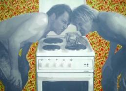 Baumgärtel, Thomas und Klemm, Harald *1960/*1960 »Geruchsprobe II oder der Sozialismus ist nicht tot, er riecht nur etwas streng«, 2007 Acryl auf Leinwand 145 x 200 cm Besitz der Künstler