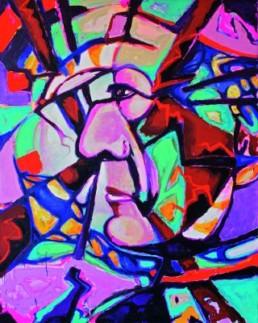 Calais, Dagmar *1966 »Frederico da Montefeltro«, 2007 Öl lauf Nessel 200 x 160 cm Besitz der Künstlerin