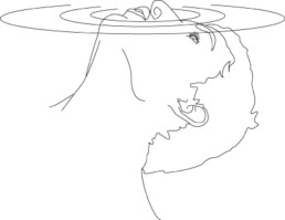 Caron, Armelle *1978 »Respirer à la surface de la mémoire«, 2007 Adhesiv auf Acrylglas 100 x 120 cm Exemplar 1/5 Besitz der Künstlerin Dings, Nicolas
