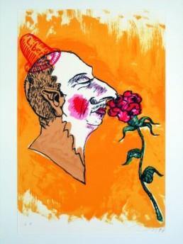 Immendorff, Jörg *1945 †2007 »ohne Titel«, 1997 Farblithographie auf Bütten 66 x 50 cm Exemplar e.a. Courtesy Sammlung Mirek Abramowicz, Hildesheim