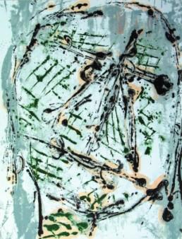 Lüpertz, Markus *1941 »ohne Titel«, 1996 mehrfarbige Serigraphie 128,5 x 98 cm No. 50 Courtesy Sammlung Kalkmann, Bodenburg