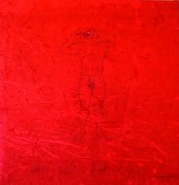 OWUSU-ANKOMAH *1956 »Inexhale«, 2007 Acryl auf Leinwand 190 x 185 cm Besitz des Künstlers