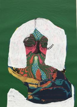 Karel Appel, ohne Titel (Kopf), 1979 Farbserigraphie mit Prägung