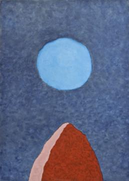 """Stefan Schwerdtfeger """"Bauer Mond"""", 2012 Acryl auf Leinwand 140 x 100 cm Besitz des Künstlers"""