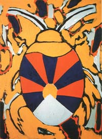 Grzyb, Ryszard *1956 'Käfer-Käfer' 1999 Öl auf Leinwand 73x54cm Besitz des Künstlers