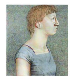 Johanna Gather, 2009, Eitempera, Acryl auf Leinwand 110 x 95cm Sammlung Kalkmann