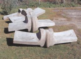 Otto Almstadt 'Wirbelkörper' Pappelholz 1995 Länge ca. 5m, Breite 2m